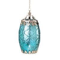 AQUAMARINE FILIGREE CANDLE LANTERN