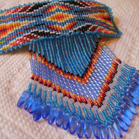 Native American Style square stitched/loomed barrette