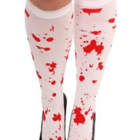 White Blood Splatter Knee-High | Fantasize
