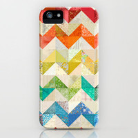 Chevron Rainbow Quilt iPhone Case by Rachel Caldwell | Society6