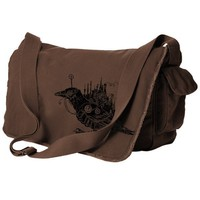 Steampunk Bird Messenger Bag