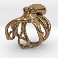 Octopus Ring 18mm by sigma6289 on Shapeways