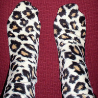 Leopard Print Fleece Socks, Arthrities Sufferers