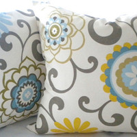Modern Pillow Cover Waverly Pom Pom Spa  20 x 20