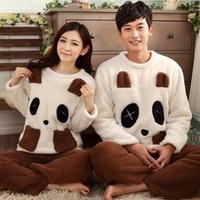 Animal couples matching pajamas round neck long sleeved thick warm autumn and winter new female unisex pajamas-in Pajama Sets from Women's Clothing & Accessories on Aliexpress.com | Alibaba Group