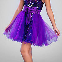 Short Purple Prom Dresses by Dave and Johnny