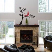 Large Tree with Bird Wall Decal