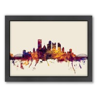 Americanflat Michael Tompsett ''Pittsburgh Skyline II'' Framed Wall Art