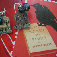 Graveside Raven Earrings
