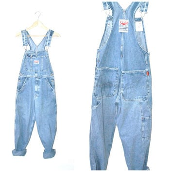 light wash IKEDA overalls vintage 80s 90s PALE stone wash denim GRUNGE bibs dungarees small