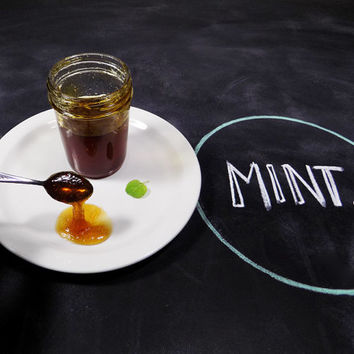 That's Minty - Organic Sweet Mint and Lemon Jelly - Mountain Harvested Fresh Minty Citrus Preserves