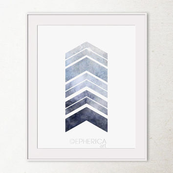 Grey chevron arrows art print, Arrow print, Gray Wall Print, Printable wall art print, Chevron printable, Download, Grey wall art Gray decor