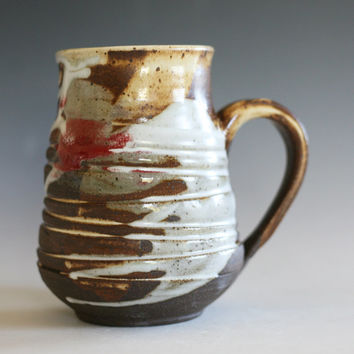LARGE Coffee Mug, 18 oz, handmade ceramic cup, tea cup, coffee cup, handthrown ceramic stoneware pottery mug, unique coffee mug