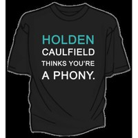 DFTBA Records :: BACKORDER: Holden Caulfield Thinks You're A Phony T-Shirt