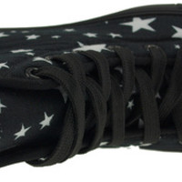 Maxstar C50 7-Holes Star Patterned High Top Canvas Platform Sneakers Shoes Black at MaxstarStore.com