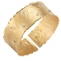 I. Reiss Scattered Diamond Gold Cuff - Max & Chloe