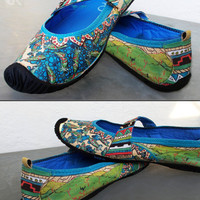 Award Winning Custom Hand Painted Woman's Size 10 Kigo Footwear