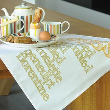 'Eggs' Tea Towel