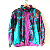 80&#x27;s Sport Jacket - purple &amp; Blue