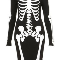 Skeleton Bodycon Dress - Dresses  - Apparel