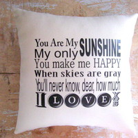 Pillow, You Are My Sunshine, Cottag.. on Luulla