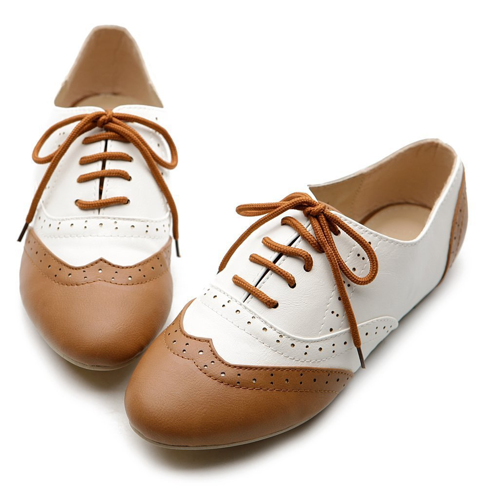 Cool Dresses Woman Shoes Brown Oxfords Women S Oxfords Oxford Flats Women