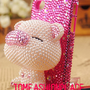 Lovely small pig case bling iphone 4 case iphone 4s case 3D iphone cover sumsang case