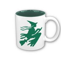 Green Witch Mugs from Zazzle.com