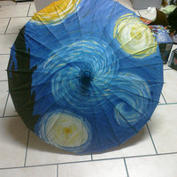 Starry Night by Vincent Van Gogh Hand Painted Replica by lizzica