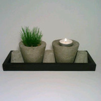 Zen Garden, Candle Holder, Flower Pot, Concrete Vase,Candy Dish