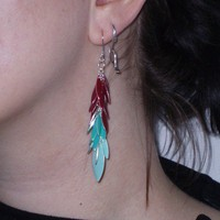 Colorful Enamel Earrings by TaviaSanza on Etsy