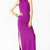 Long Night Maxi Dress - Violet