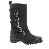 ASOS COMMANDO Leather Biker Boots at asos.com