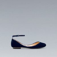 VAMP SHOE WITH VELVET HEEL - Shoes - Woman - ZARA United States
