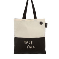 Lazy Oaf Glass Half Empty Half Full Shopper at asos.com