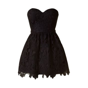 Sweetheart Cut Out Dress - Kely Clothing
