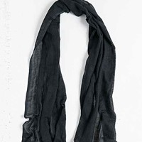 Open Weave Oblong Scarf- Black One