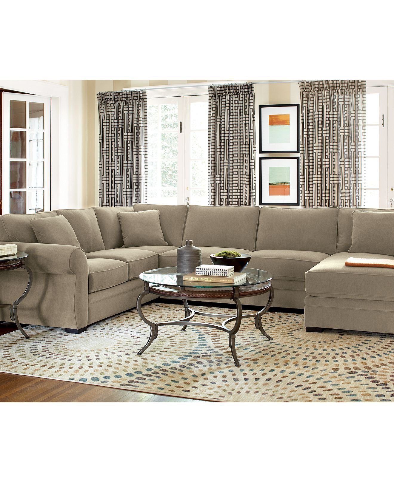 Devon living room furniture sets from macy 39 s the house for Sectional living room sets