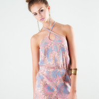 Paisley Print Romper | Lucca Couture