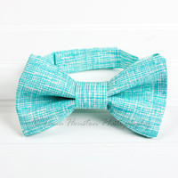Boy's, Girl's Bow Tie, Newborn, Baby, Child- Turquoise, White, Toma's Tutus and Things