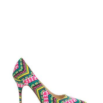 Print Party Pointy Tribal Heels
