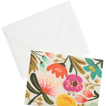 Gold Floral Thank You Card Set