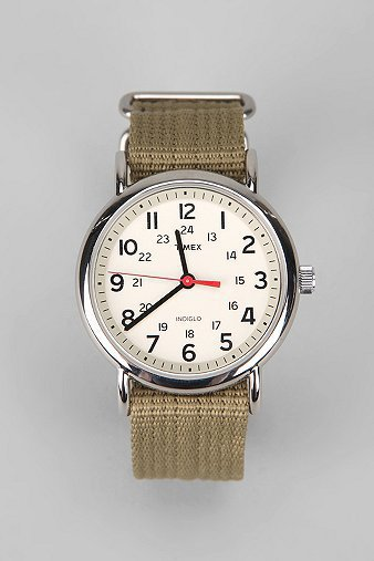 Timex Weekender Slip-Thru Band Watch