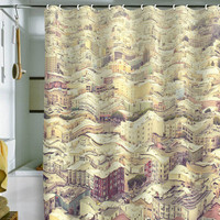 DENY Designs Home Accessories | Shannon Clark San Fran Rooftops Shower Curtain