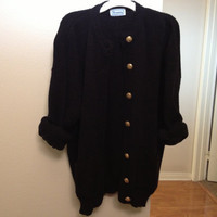 Grunge Over Sized Black Cardigan
