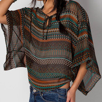 Coffee Sheer Fiona Top