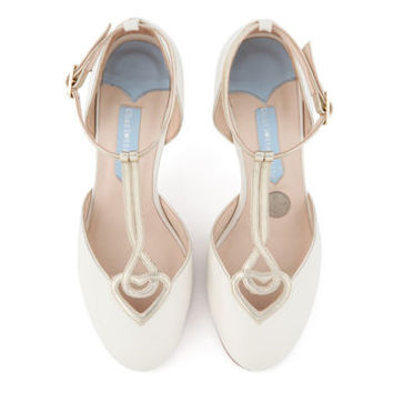 Anastasia T Bar Wedding Shoes