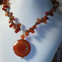 Woven Carnelian Necklace