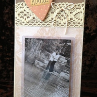 Adore Frame - 6x12 Base With 4x6 Vertical Photo - Wall Decor - READY TO SHIP