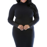Turtleneck Bodycon Dress+